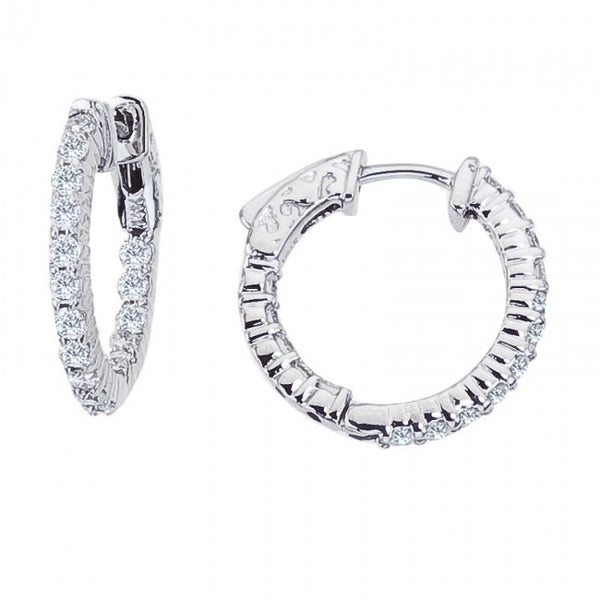 14k white gold inside/out hoops (small)