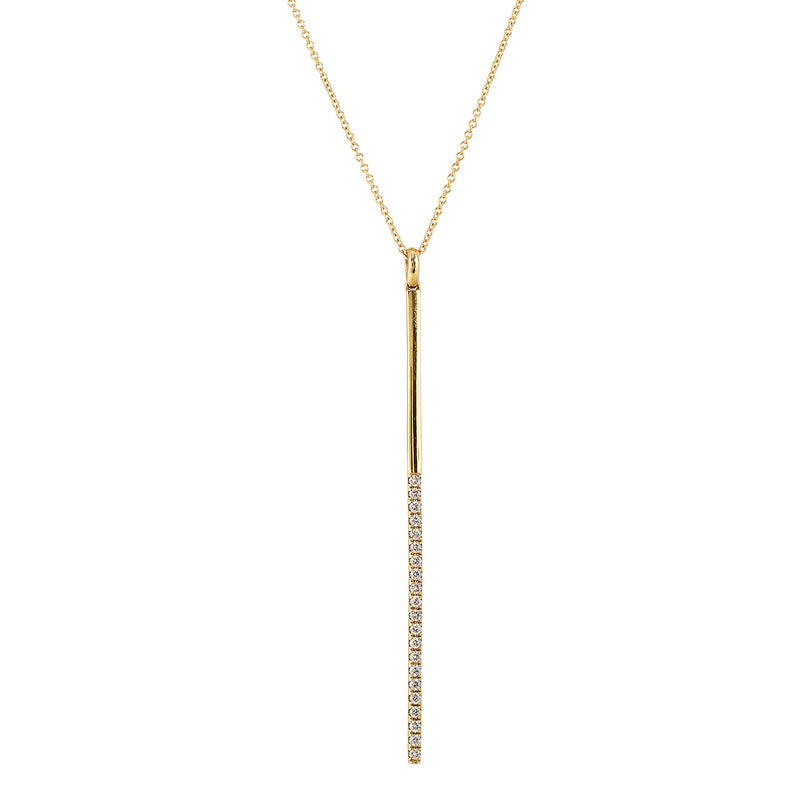 Doves Vertical Bar Necklace