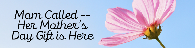 Mother;s Day Banner with flower