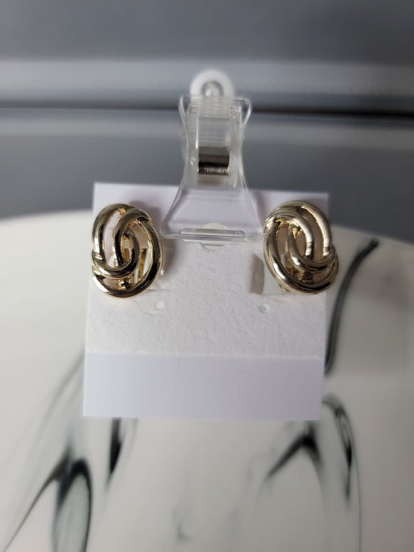 gold clip on fashion earrings
