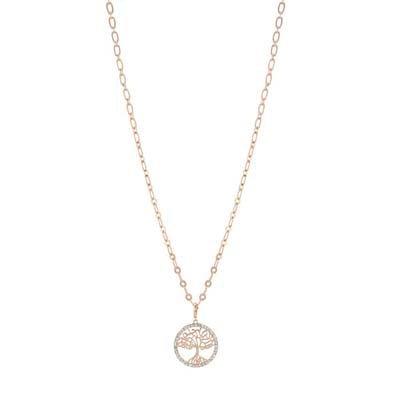 merx fashion necklace Rose Gold 17