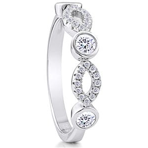 .925 Sterling Silver Ring Rhodium plated Nickel Free with Micro Set CZ   Across top. 4.7 mm  Weight 2.4 g  Size 7