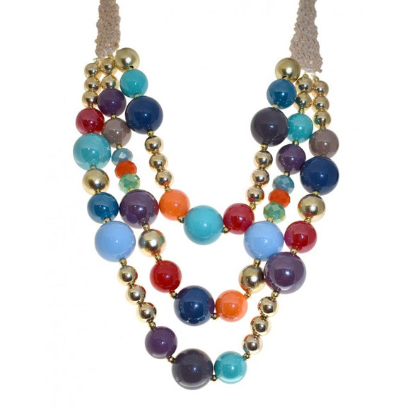 colour beaded fashion jewellery necklace