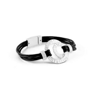 leather and metal fashion jewellery  bracelet