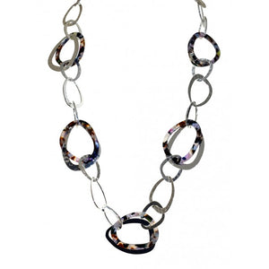 multi resin large hoop fashion jewellery necklace