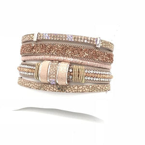 "Wrap bracelets  Statement making bracelets  Chain link bracelets   Rhinestone fashion bracelets  Metallic Gold and Silver  fashion Bracelets  ""Chunky"" is the buzz word of this season    Magnetic bracelets     Pearl fashion bracelets"