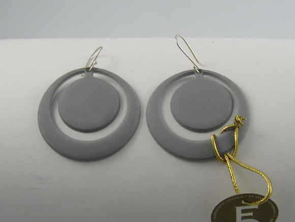 Marzio Fiorini recycled rubber earrings.  Handcrafted in Brazil