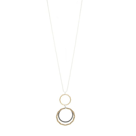 Merx fashion hoop necklace with crystal