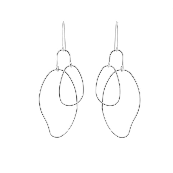 Merx fashion jewellery earrings rhodium plated