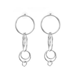 merx fashion jewellery multi hoop earrings