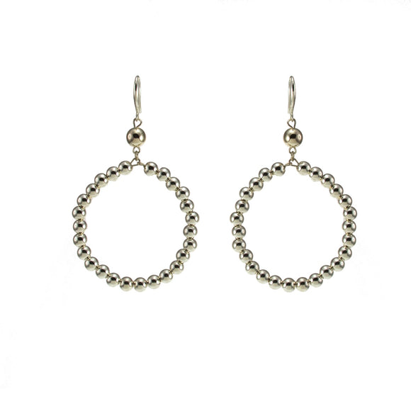 Merx fashion jewellery light gold hoop earrings