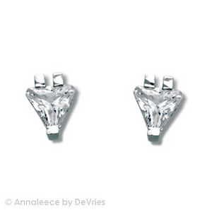 "Rhodium earrings with clear SWAROVSKI ELEMENTS, .  posts; 1/4"" width"