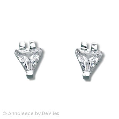 Rhodium earrings with clear SWAROVSKI ELEMENTS, .  posts; 1/4