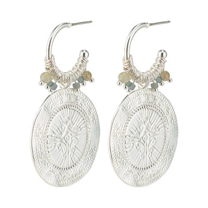 Pilgrim Jewellery Nomad  earring in silver
