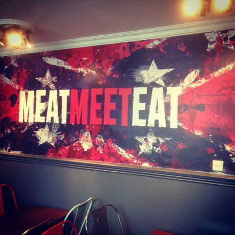 #MeetMeatEat Wall in Rebels' Smokehouse