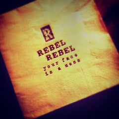 Rebel Rebel Your Face is a Mess Napkin from Rebels' Smokehouse