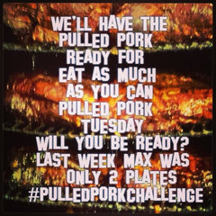 #pulledporkchallenge Unlimited Pulled Pork