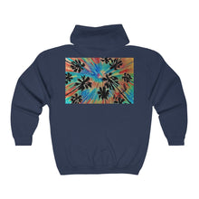 Load image into Gallery viewer, HOWS THE SUF ? SURFSUP! NAHA OKINAWA Unisex Heavy Blend™ Full Zip Hooded Sweatshirt - Yando