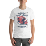College Rugby League Milwaukee | Premium Short-Sleeve T-Shirt | Soft & Comfortable | Unisex