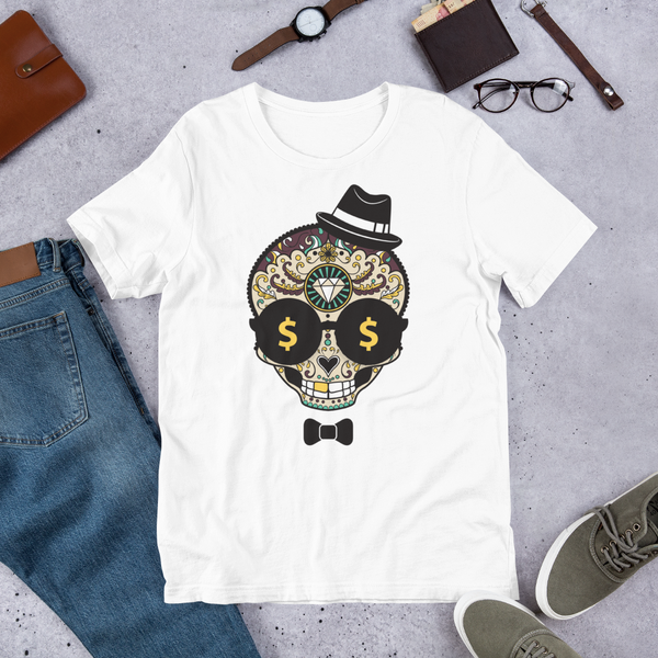 Day Of The Dead Character | Premium Short-Sleeve T-Shirt | Soft & Comfortable | Unisex