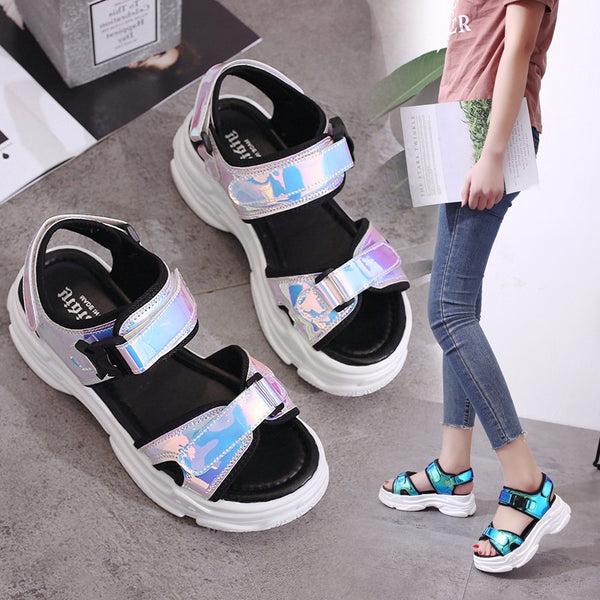 WOMEN's Open Toe Sport Wedge Sandals
