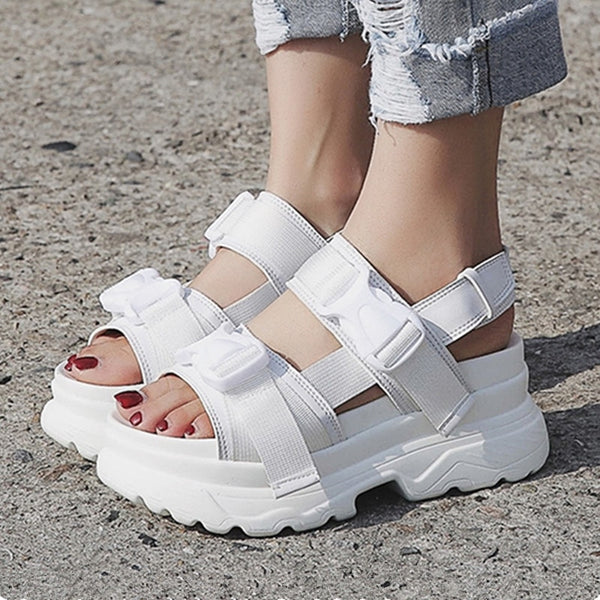 WOMEN's Platform Buckle Design Sandals