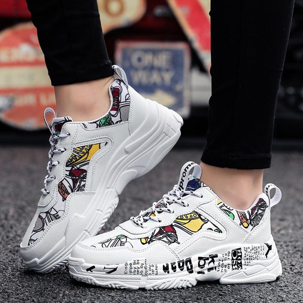 UNISEX Casual Fashion Shoes Graffiti Vulcanized  Sneakers