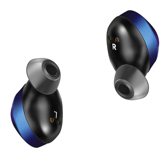 earbuds with left and right earbud