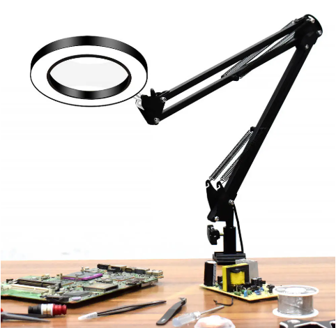 Flexible Desk Magnifier 5X USB LED Magnifying Glass