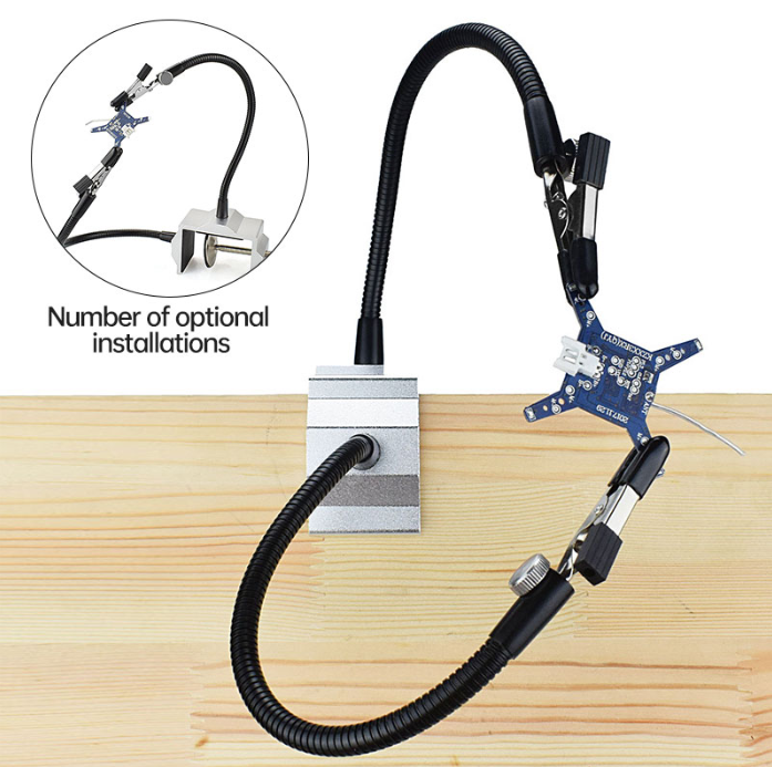 Visehandz™ Bench Vise Table Clamp Helping Hand Soldering Station