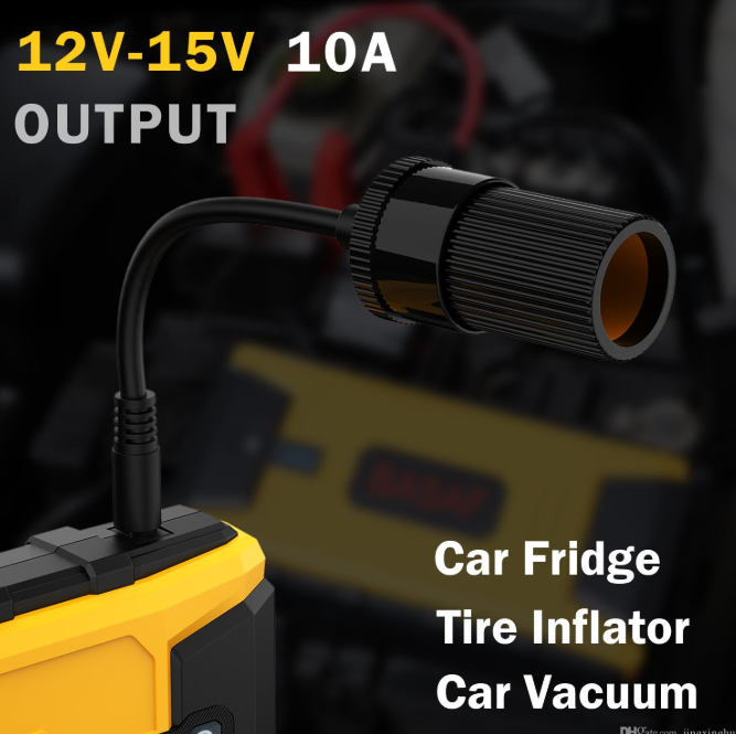 12V Ultra Safe Lithium Car Jump Starter Power Pack 12V - 15 V 10 A used to charge car fridge, tire inflator, car vacuum