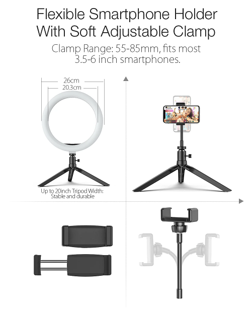 BlitzWolf®Ring Light Tripod Stand for TikTok Youtube LiveStream Makeup