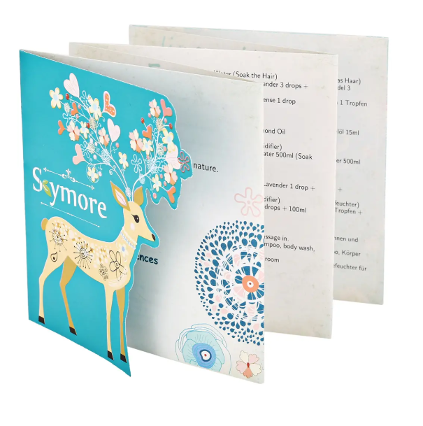 Blue Skymore recipe booklet concertined