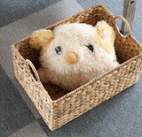 Straw Hand-woven Square Portable Basket
