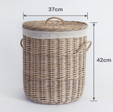 Willow Woven Basket With Lid