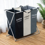 Frame Laundry Folding Basket 3 cells