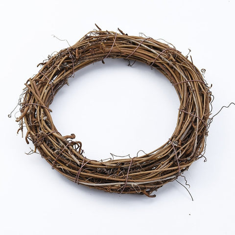 Rattan Ring - DIY Christmas wreath