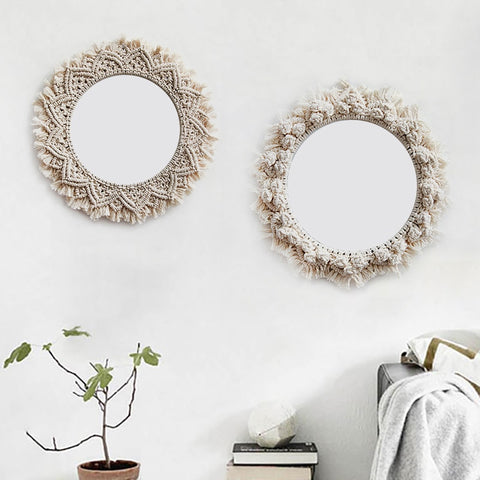 Macrame Decorative Mirror Frame