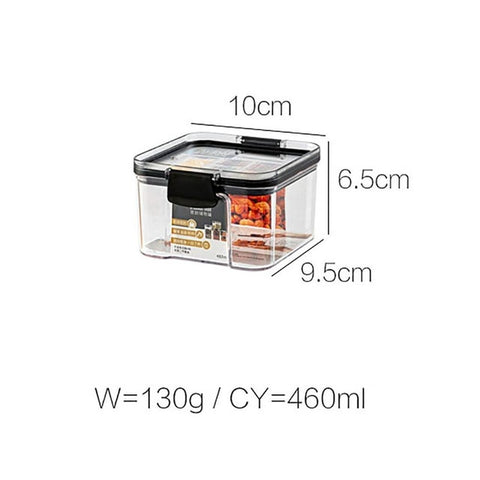 Pantry plastic containers with black lid