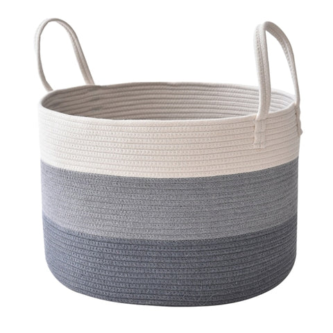 Large Cotton Laundry Basket with Handles