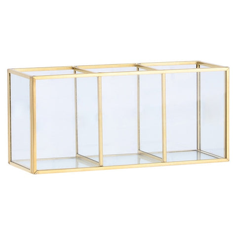 Cosmetics 3-sections Storage Container