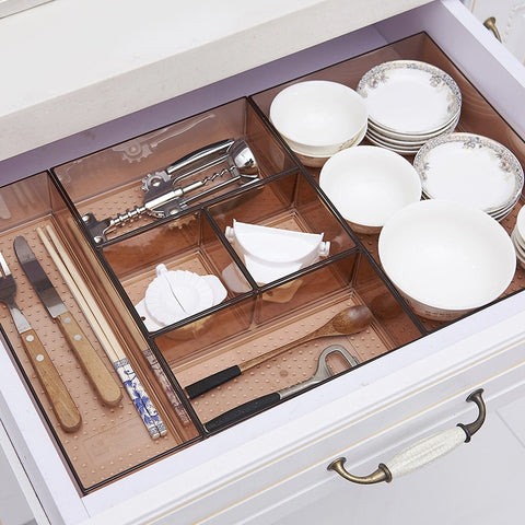 Cutlery transparent drawer organizer