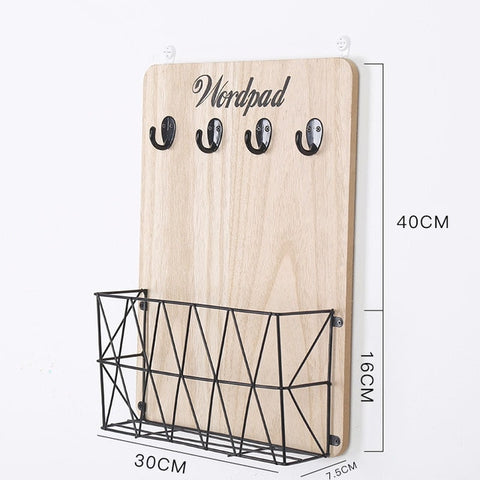 Wooden Wall Hanging Storage Rack