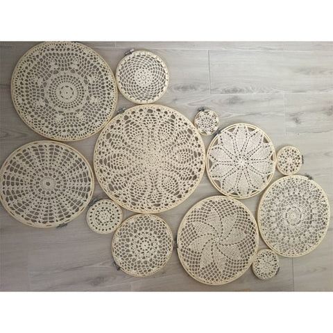 DIY tapestry wall hanging Lace Dream Catcher