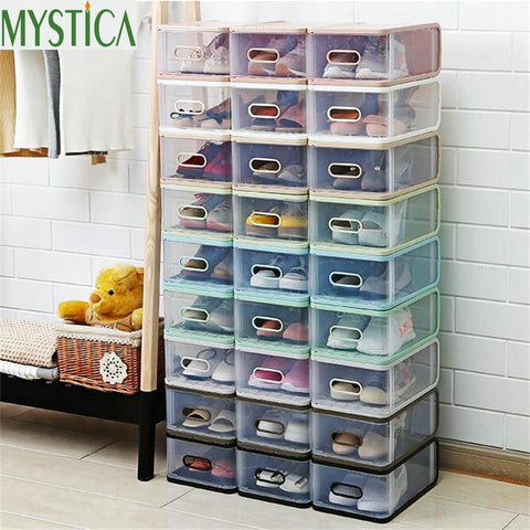 4PCS Shoe Transparent Storage Box