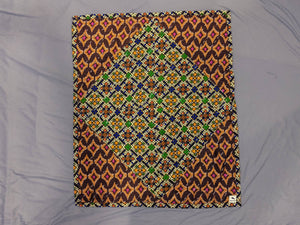 Brown and orange kids hand stitch godhadi quilt