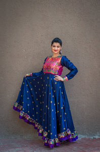 Blue paithani dress - WEAR COURAGE