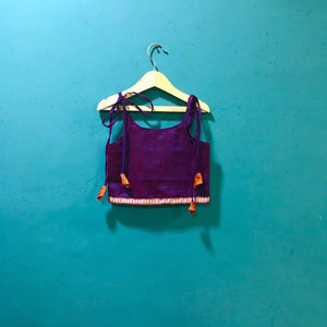 Girl's purple spaghetti khunn blouse - WEAR COURAGE