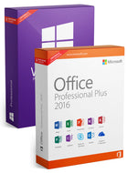 Microsoft Windows 10 Pro + Office Professional Plus 2016 as a set