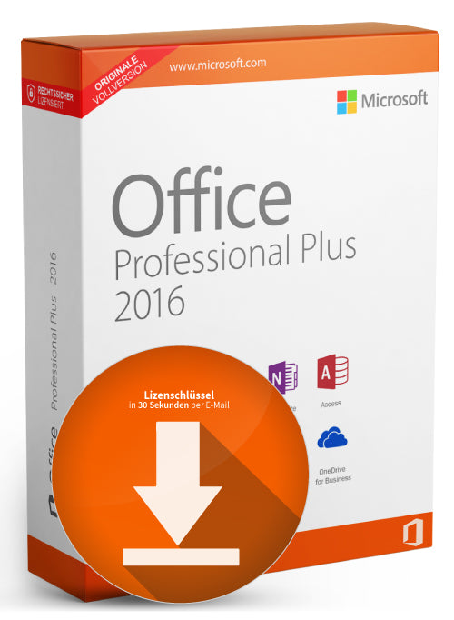 Microsoft MS Office Professional Plus 2016 (32/64 Bit) 1 Lizenz deutsch